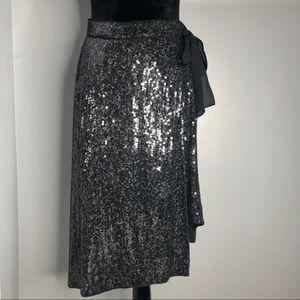 DIANE von FURSTENBERG Brenndah Sequin Skirt Sz 4